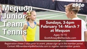 Mequon Junior Team Tennis - Elite Mequon - Winter 2021