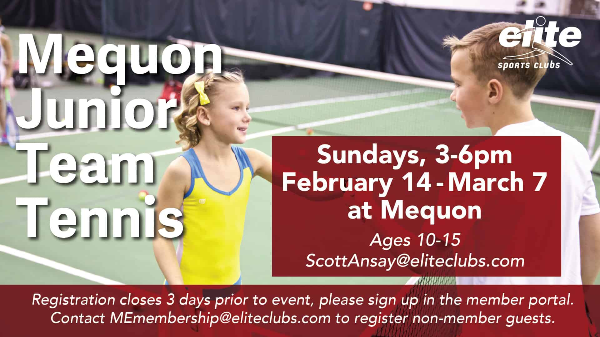 Mequon Junior Team Tennis - Elite Mequon - Winter 2021