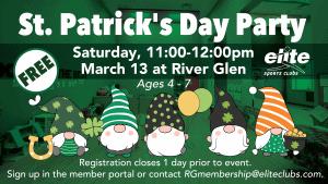 St Patricks Day Party - Elite River Glen - March 2021
