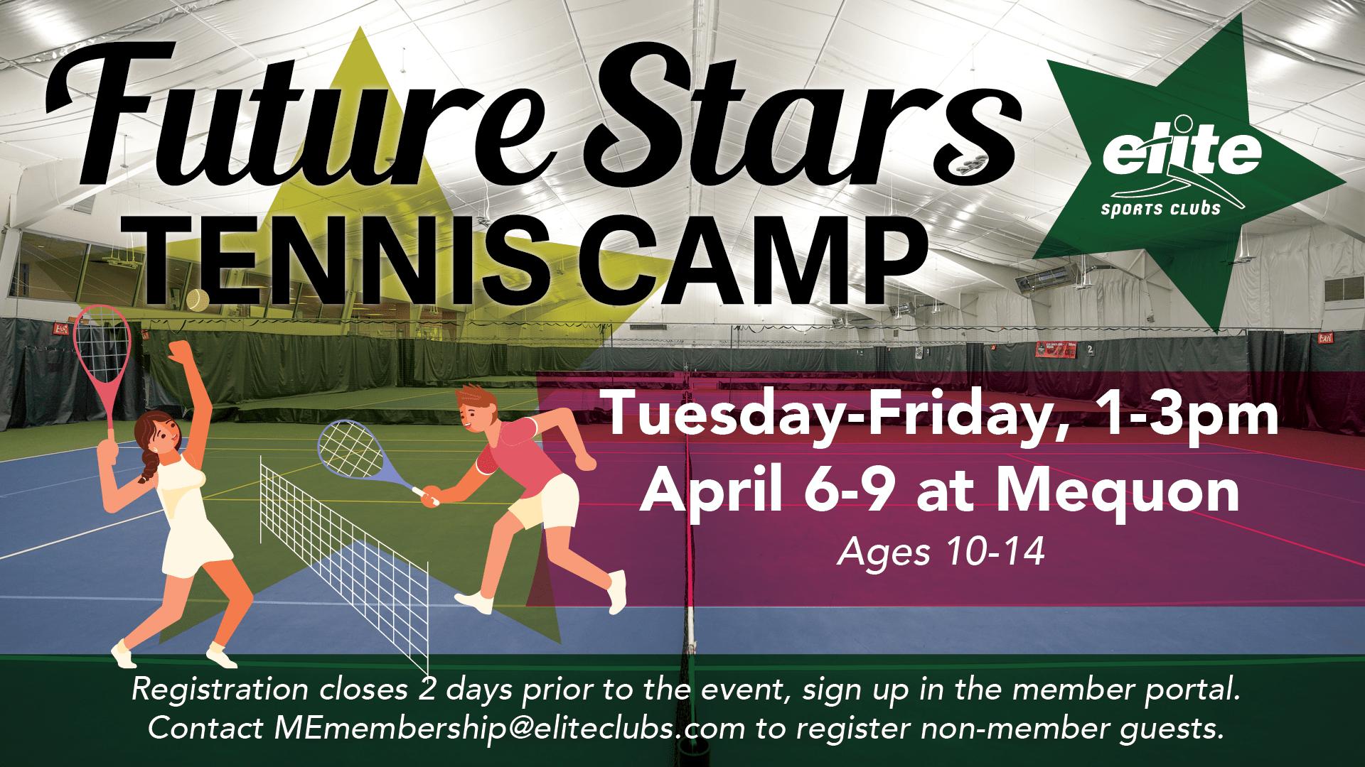 Future Stars Tennis Camp - Elite Mequon - April 2021