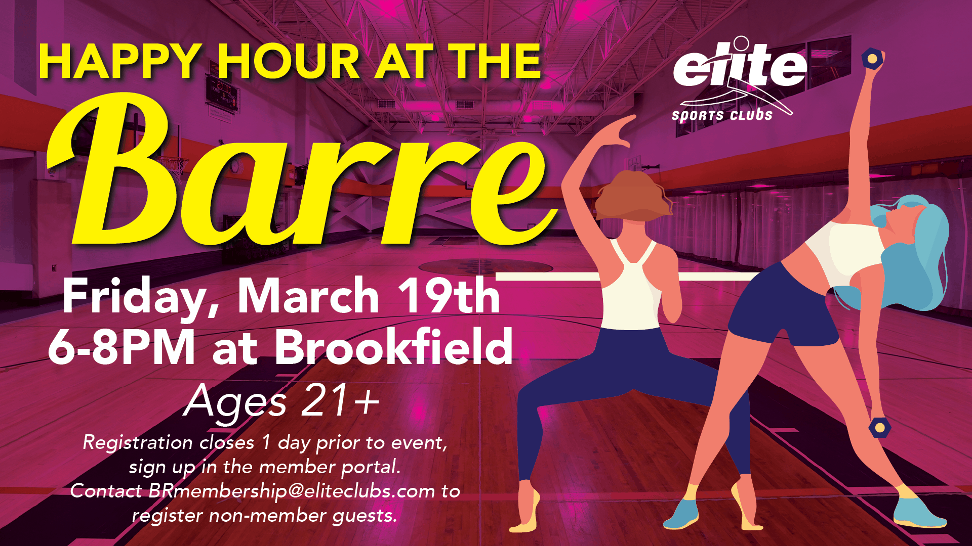 Happy Hour at the Barre - Elite Brookfield - March 2021