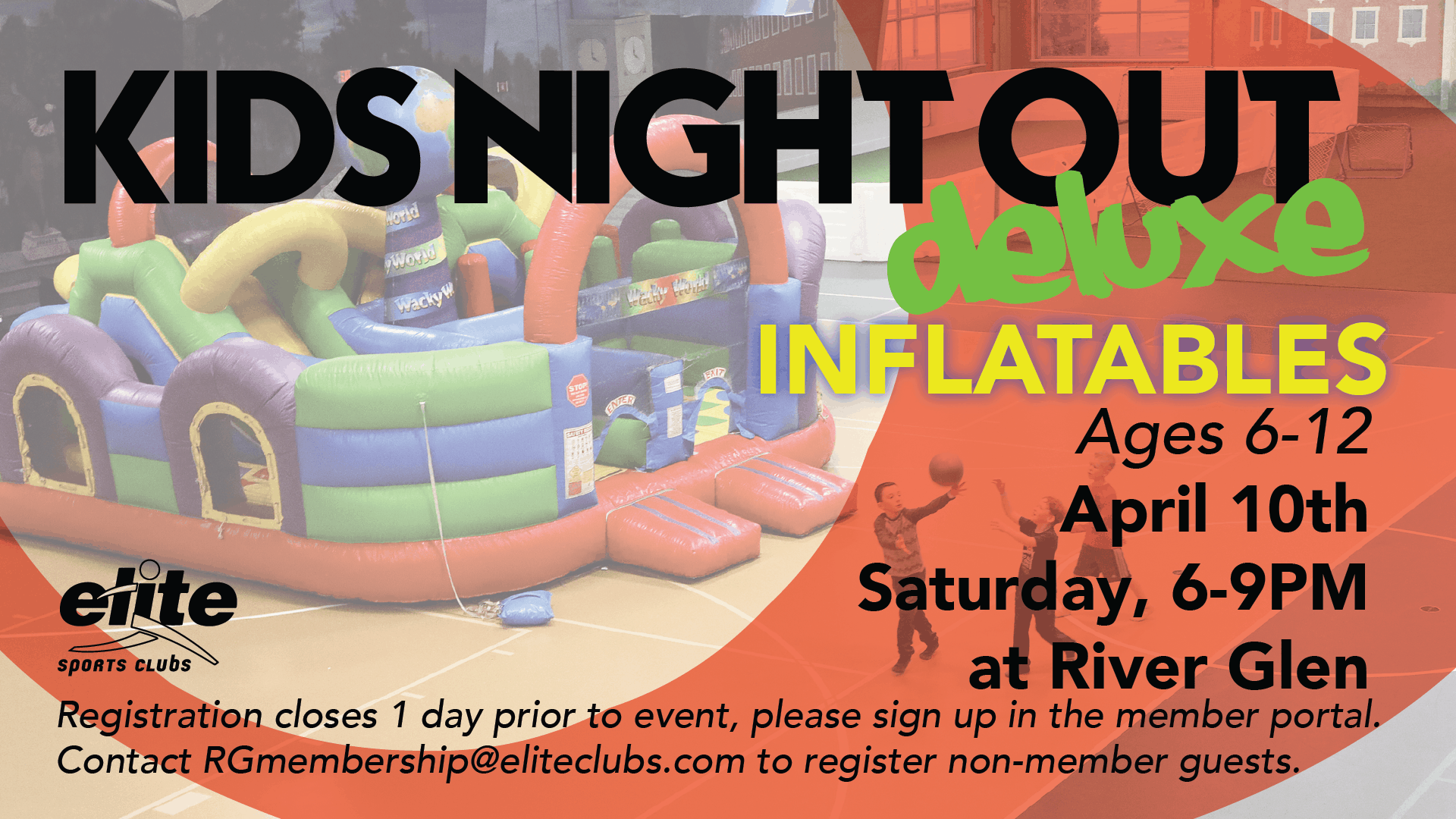 Kids Night Out Deluxe Inflatables - Elite River Glen - April 2021