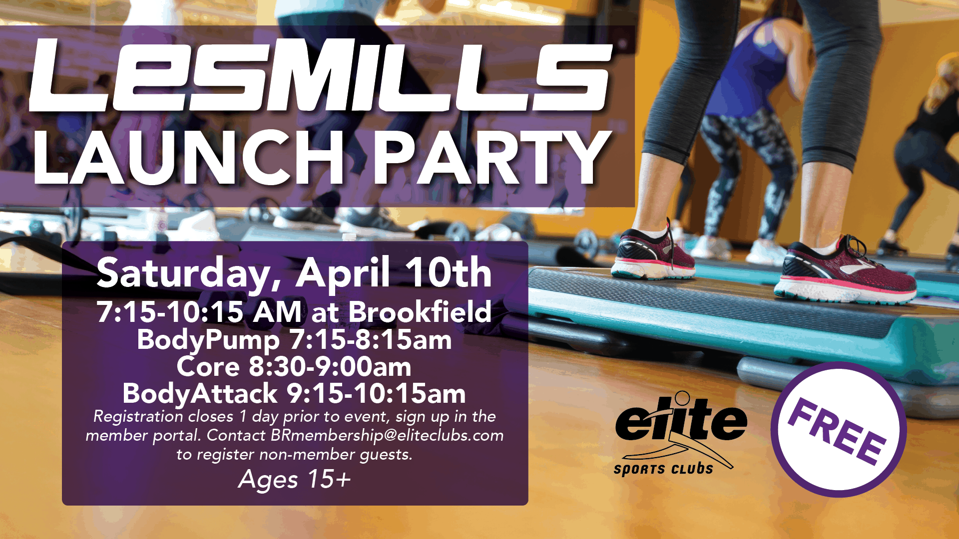 Les Mills Launch Party - Elite Brookfield - April 2021