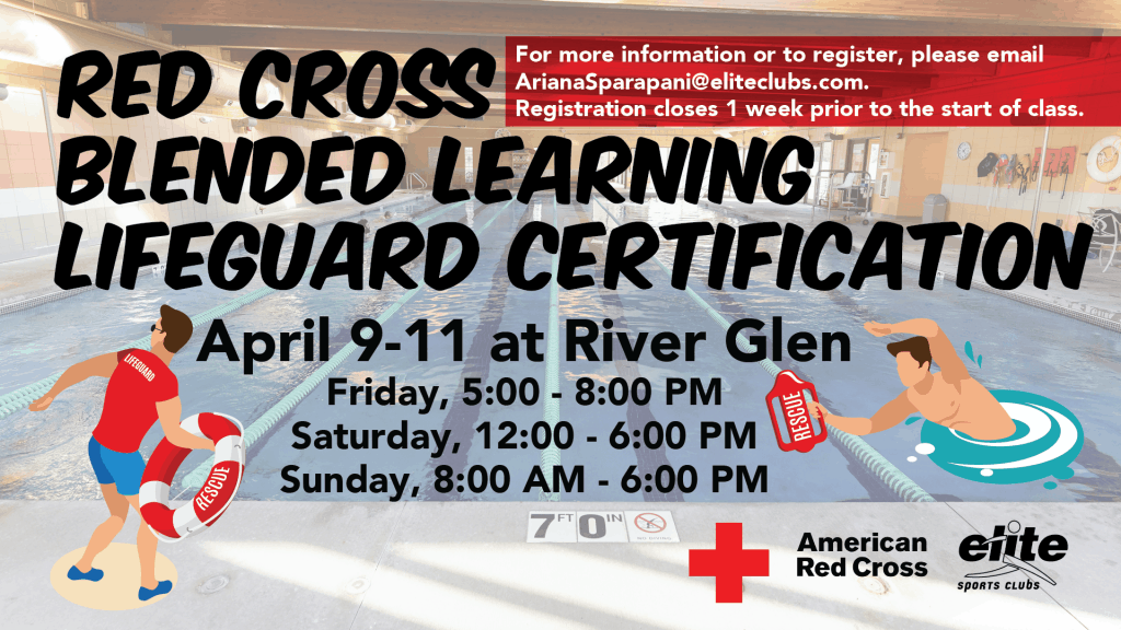 Red Cross Blended Learning Lifeguard Certification - Elite River Glen - April 2021