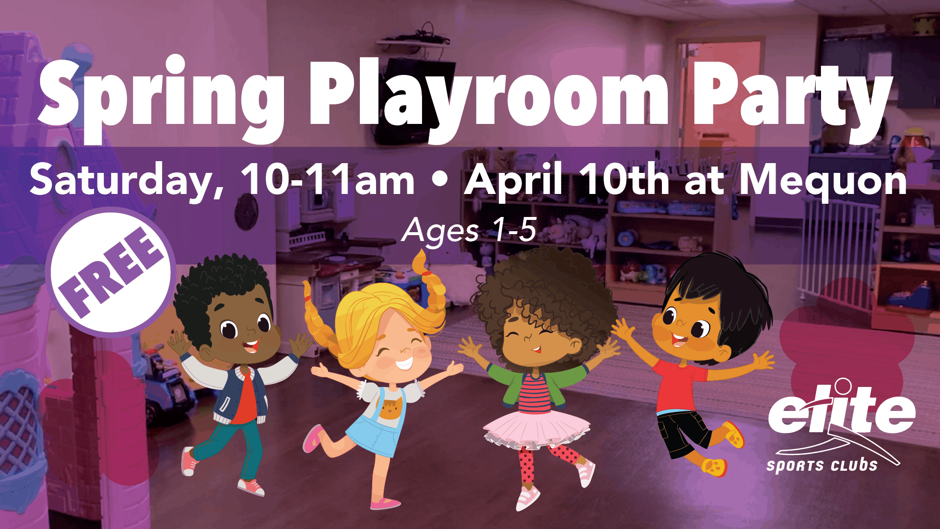 Spring Playroom Party - Elite Mequon - April 2021