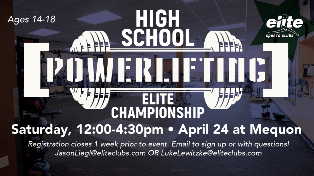 High School Powerlifting Elite Championship - Elite Mequon - April 2021