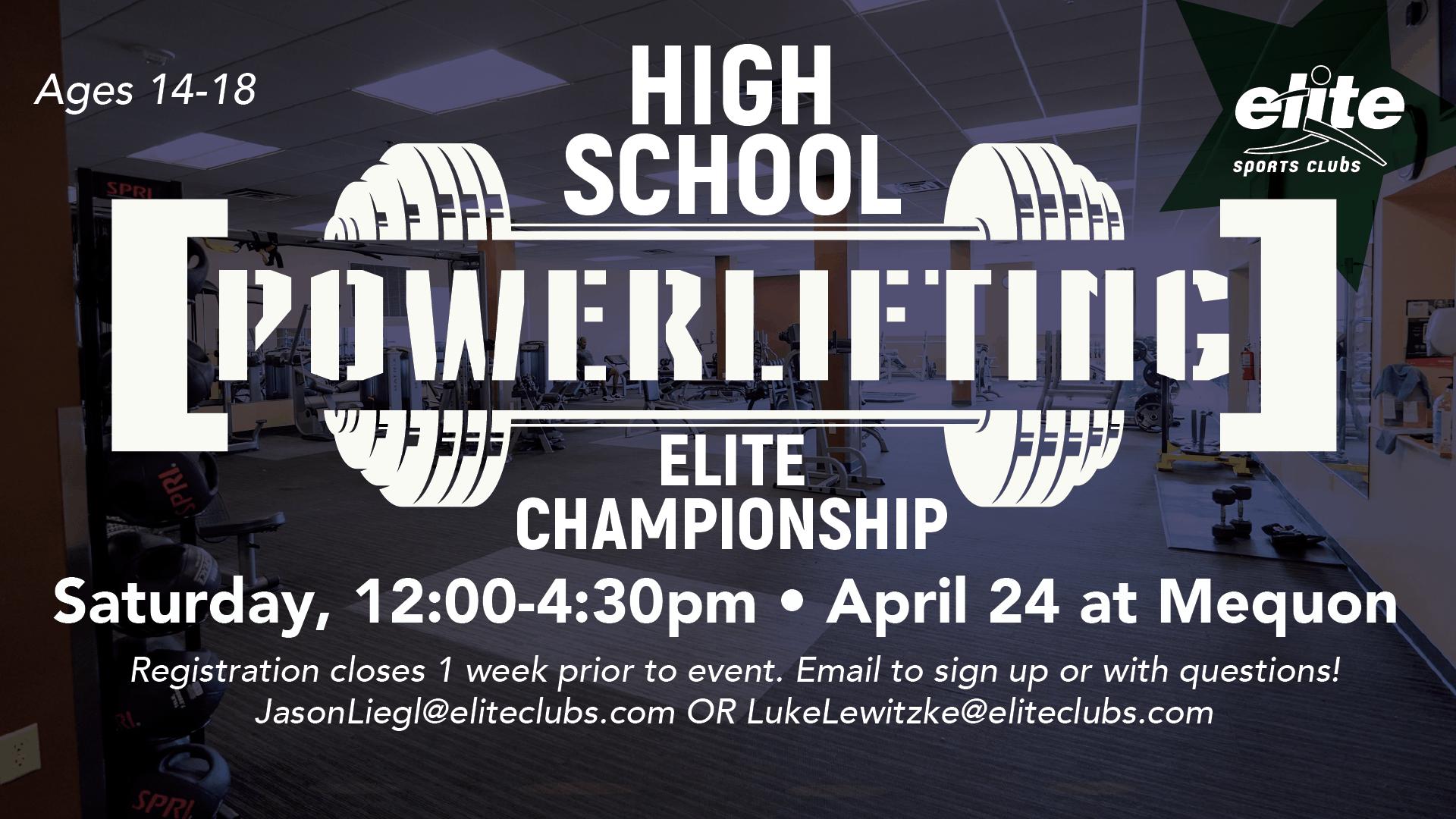 High School Powerlifting Elite Championship - Elite Mequon - April 2021