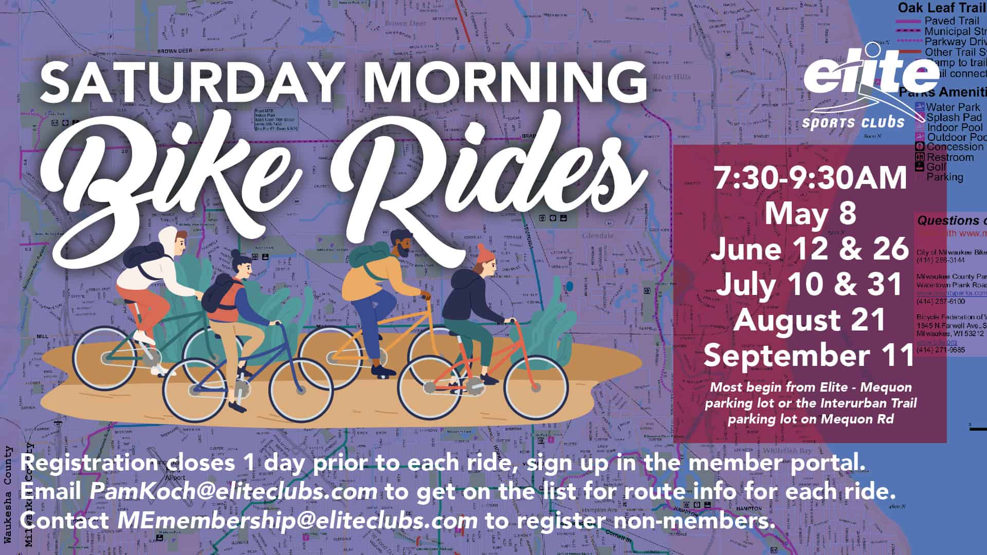 Saturday Morning Bike Rides - Elite Mequon - Summer 2021