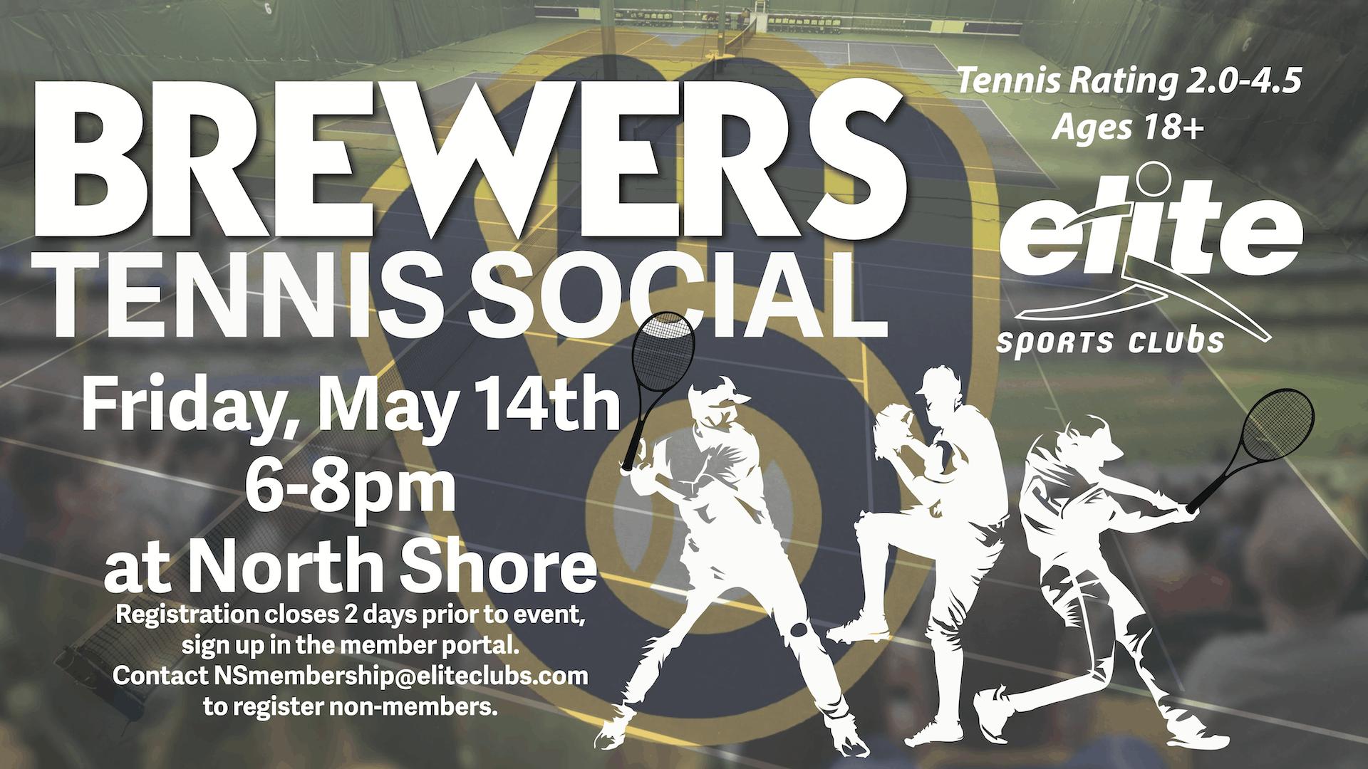 Brewers Tennis Social - Elite North Shore - May 2021
