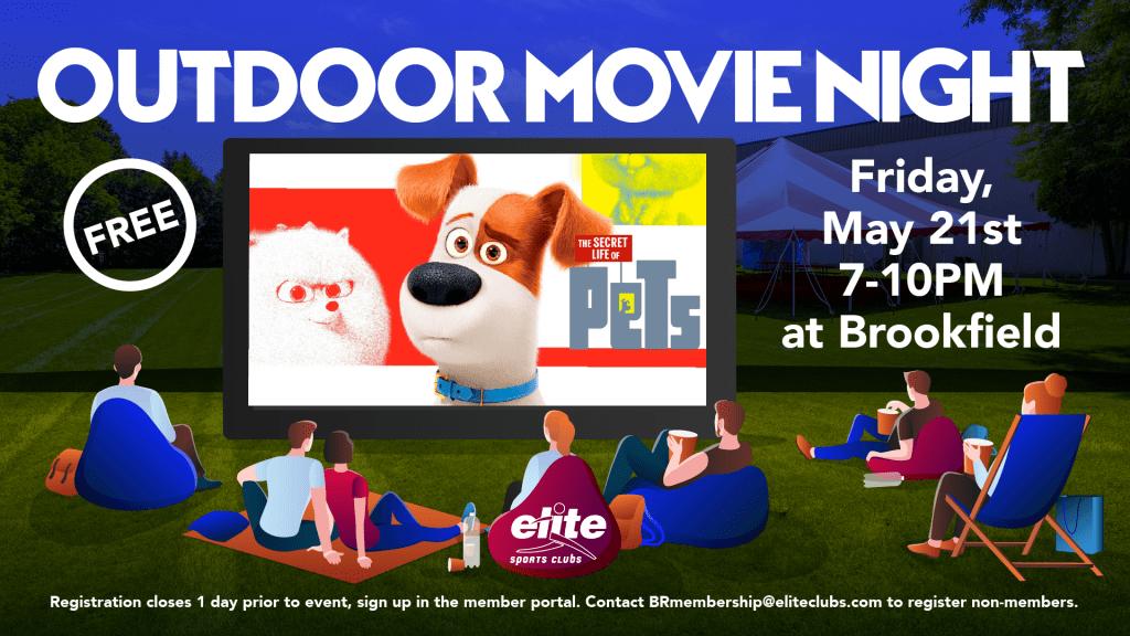 Outdoor Movie Night - Elite Brookfield - May 2021