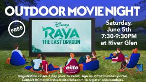 Outdoor Movie Night - Elite River Glen - June 2021