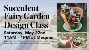 Succulent Fairy Garden Design Class - Elite Mequon - May 2021