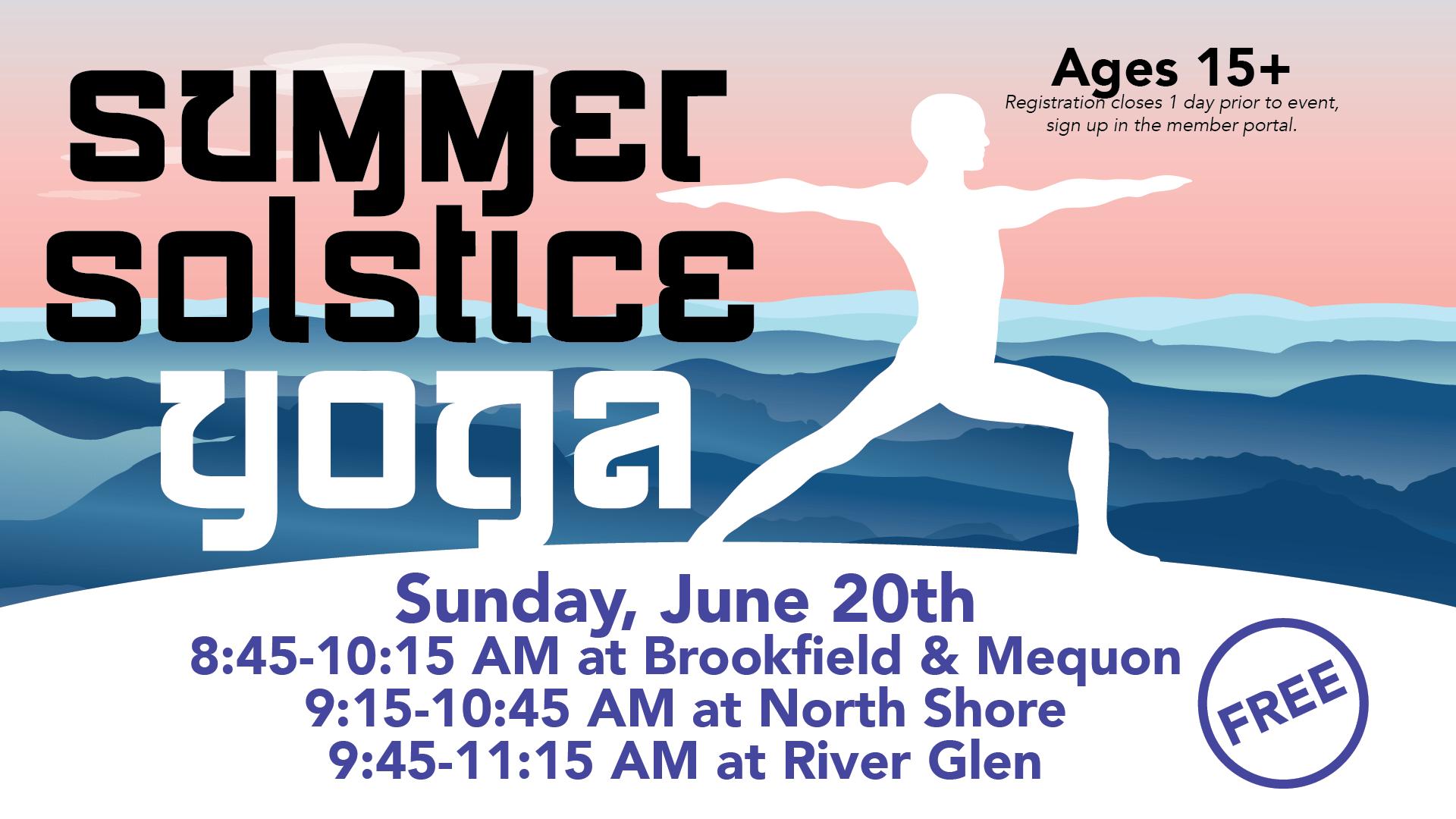 Summer Solstice Yoga - Elite Sports Clubs - June 2021