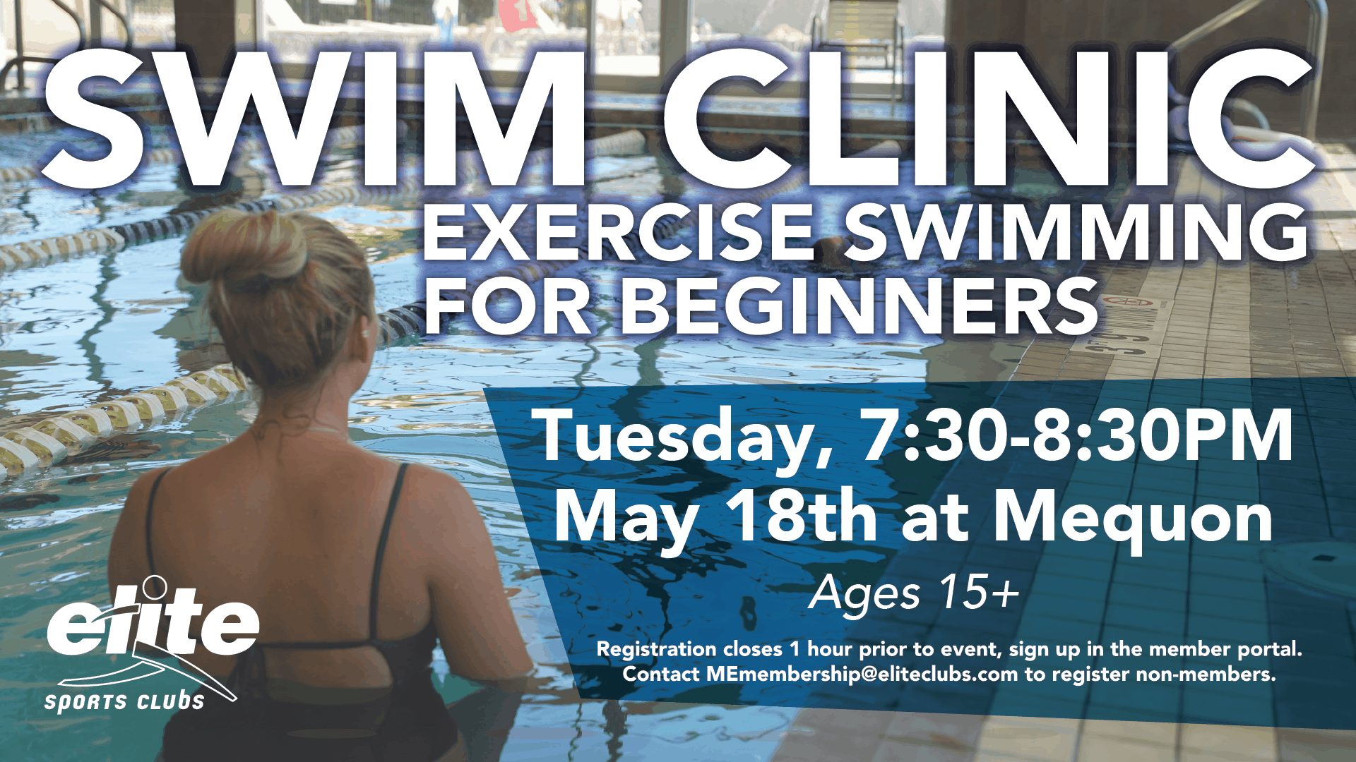Swim Clinic - Exercise Swimming for Beginners - Elite Mequon - May 2021