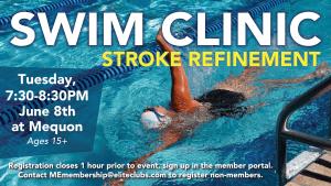 Swim Clinic - Stroke Refinement - Elite Mequon - June 2021