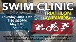 Swim Clinic - Triathlon Swimming - Elite Mequon - June 2021