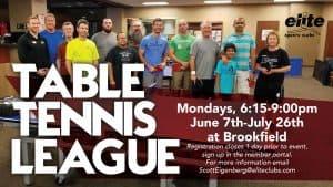 Table Tennis League - Elite Brookfield - June 2021