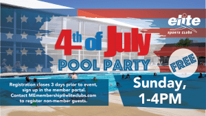 4th of July Pool Party - Elite Mequon - July 2021