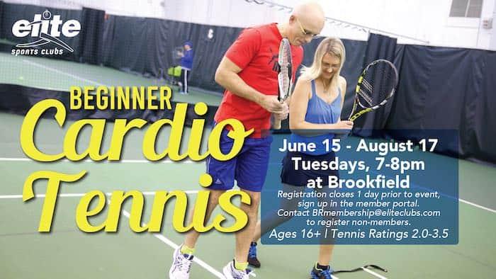 Beginner Cardio Tennis - Elite Brookfield - Summer 2021