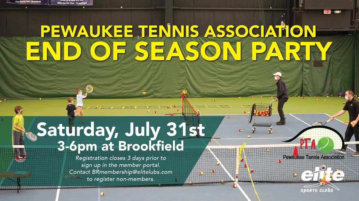 Pewaukee Tennis Association Party - Elite Brookfield - July 2021