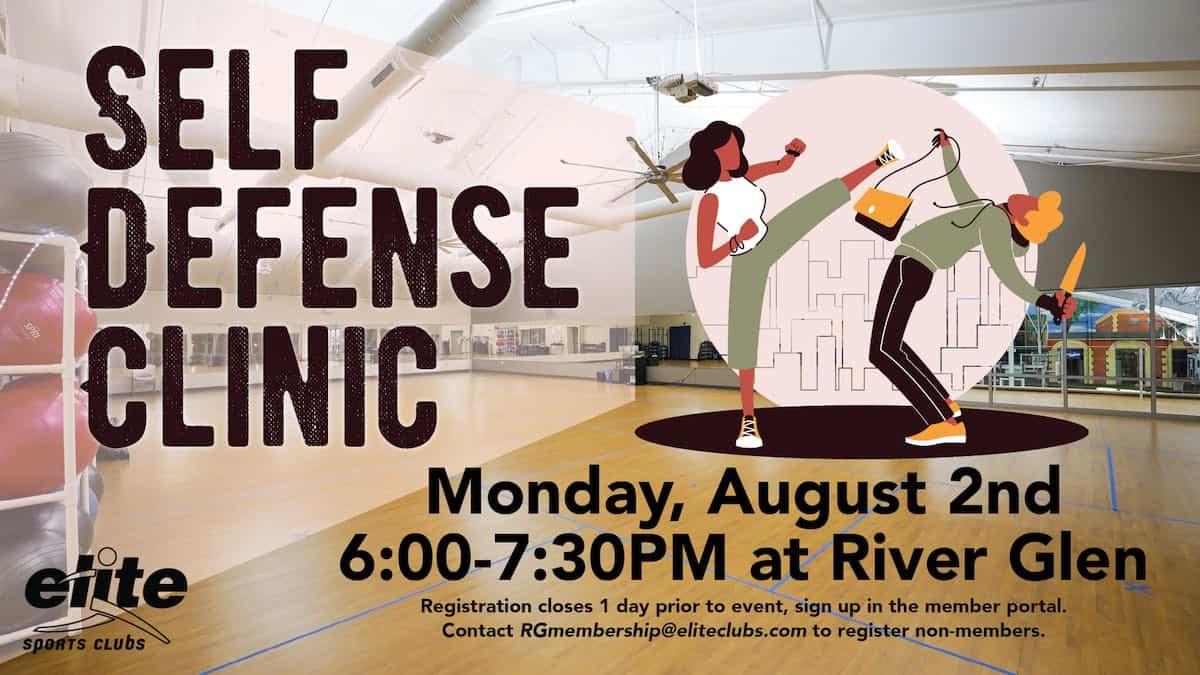Self Defense Clinic - Elite River Glen - August 2021