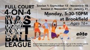 4-on-4 Full Court Basketball League