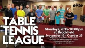 Table Tennis League - Elite Brookfield - September 2021