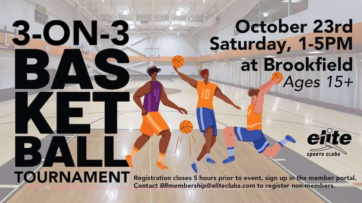 3-on-3 Basketball Tournament - Elite Brookfield - October 2021