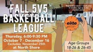5v5 Basketball League - Elite North Shore - Fall 2021