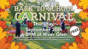 Back to School Carnival - Elite River Glen - September 2021