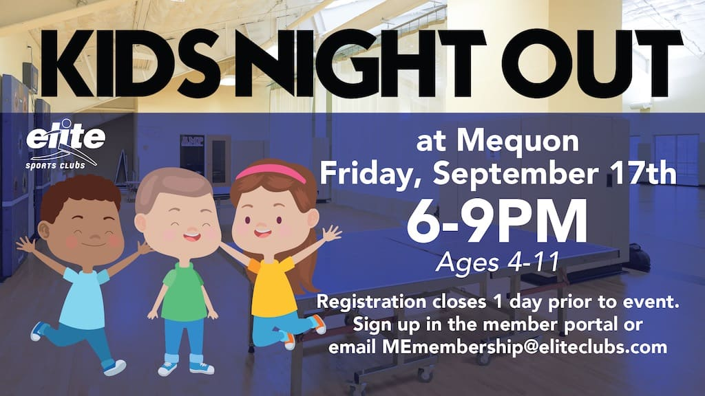 Kids Night Out - Elite Mequon - September 2021