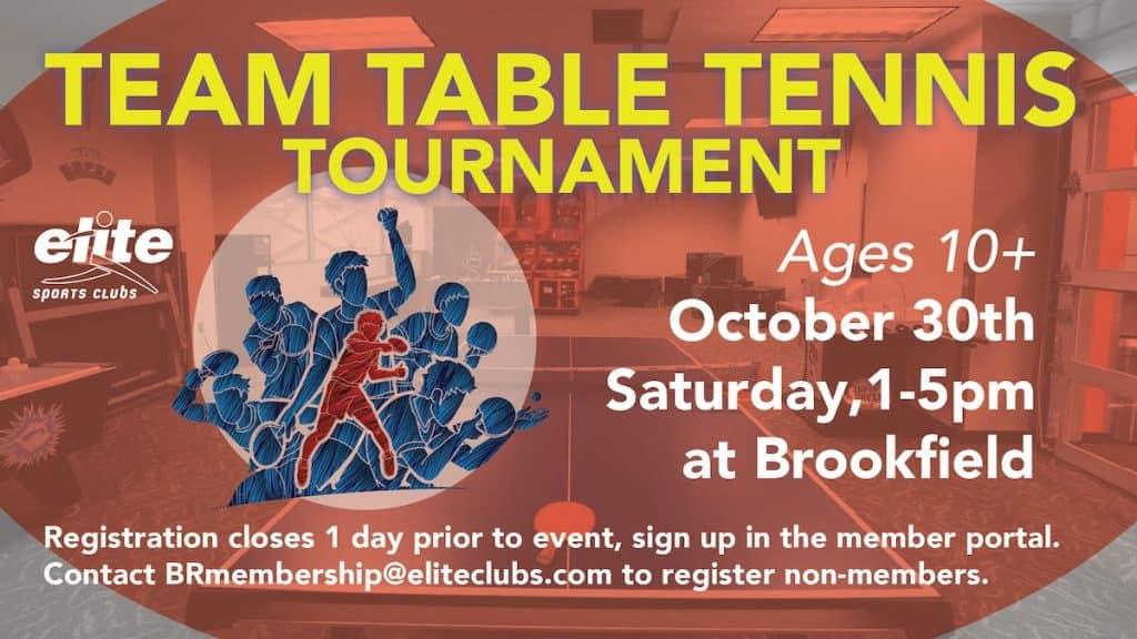 Team Table Tennis Tournament - Elite Brookfield - October 2021