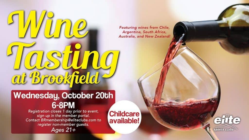 Wine Tasting - Elite Brookfield - October 2021