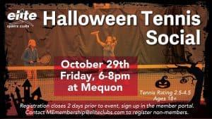 Halloween Tennis Social - Elite Mequon - October 2021