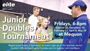 Junior Doubles Tournament - Elite Mequon - 2021-2022