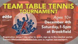 Team Table Tennis Tournament - Elite Brookfield - December 2021